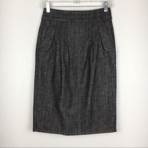 Level 99 Charcoal Grey/Black Denim Pencil Skirt 27